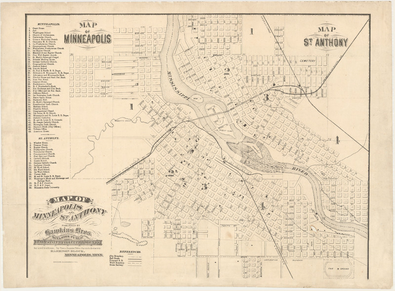 Map of Minneapolis and St. Anthony