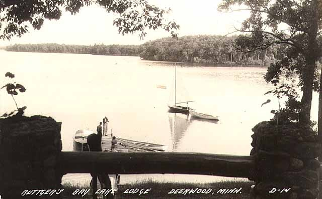 View of Bay Lake from Ruttgers Lodge