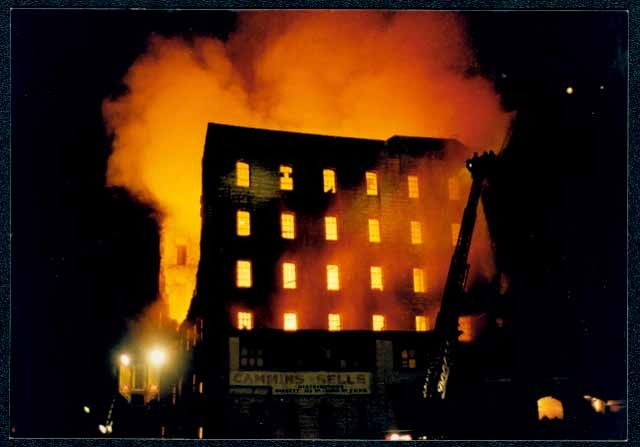 Washburn A. Mill fire in 1991