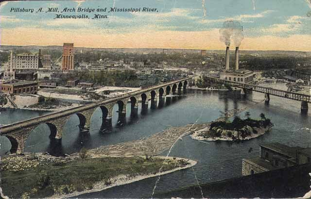 St. Anthony Falls Postcard
