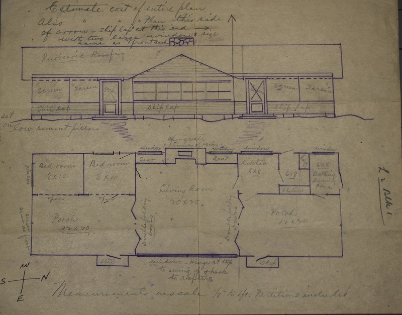 Blueprint of A.J. Starr Cottage