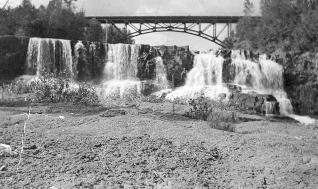 Bridge Over Gooseberry River and Falls