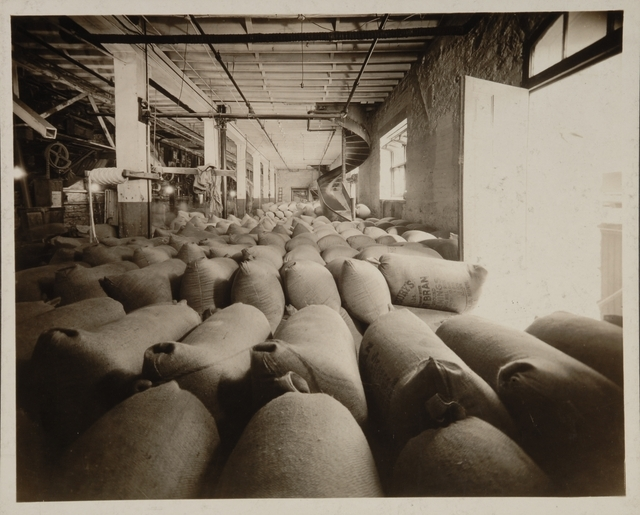 Flour bags at Pillsbury's mill
