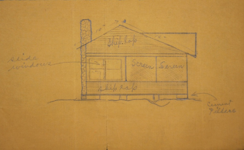 Sketch of A.J. Starr Cottage