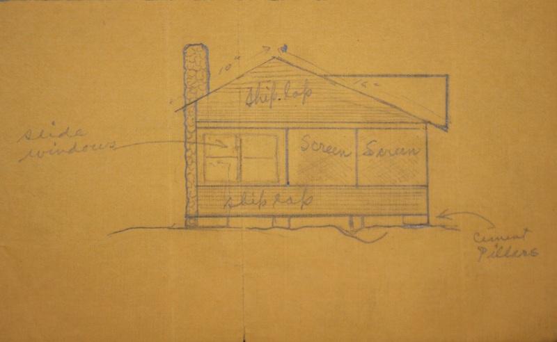 Sketch of A.J. Starr Cottage